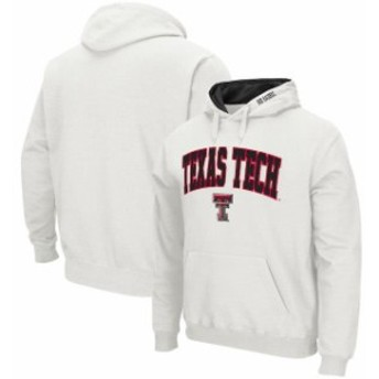 Colosseum コロセウム スポーツ用品  Colosseum Texas Tech Red Raiders White Arch & Logo Tackle Twill Pullover Hoodie