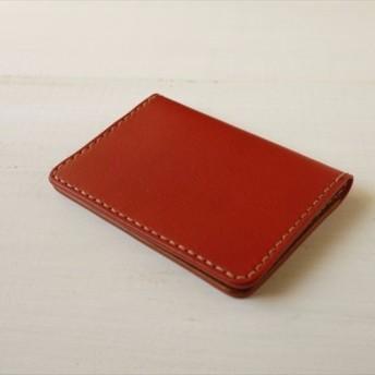 2TONEなカードケース(赤・キャメル)