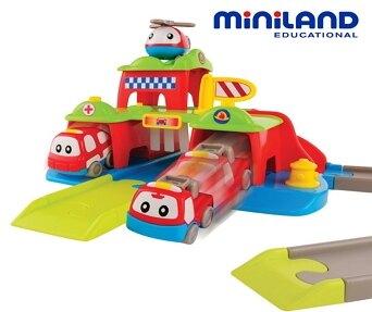 【西班牙 Miniland】救護英雄軌道組【紫貝殼】