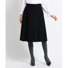 スーナウーナ ウールフレアカラースカート レディース ブラック(019) 36(S) 【SunaUna】