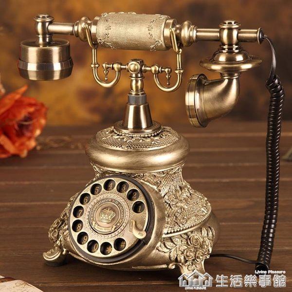 旋轉盤仿古老式電話座機歐式電話機復古電話機時尚創意電話機