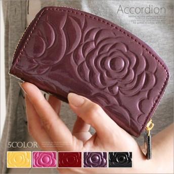 ユニセックスで使新作 レディースコインケース 小銭入れ カードケース ミニ財布 シンプル ミニウォレット カラフル プレゼント 女性用 エナメル風 花柄型押し 大容量 wlpd-sy-355a