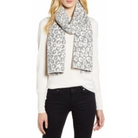 ハロゲン HALOGEN レディース マフラー・スカーフ・ストール Leopard Jacquard Wool and Cashmere Scarf Grey Light Heather Combo