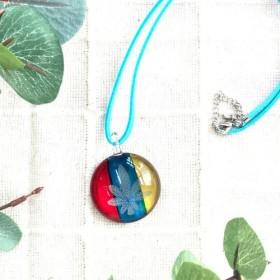 世界に一つ。職人手作りのベネチアンガラスネックレス 作品No.2-22 オシャレ ギフト 1点もの キラキラ ペンダント