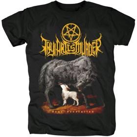 XIANNV Thy Art Is Murder デスメタル Dear Desolation メンズ/レディース Tシャツ/夏服 スポーツ Tシャツ ブラック/半袖 Tシャ