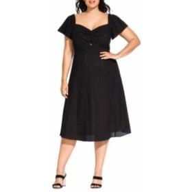 シティーシック CITY CHIC レディース ワンピース ワンピース・ドレス Pretty Eyelet Dress Black