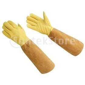 牛革手袋 蜂蜜補給グローブ 保護用長袖 溶接用保護具 全2サイズ