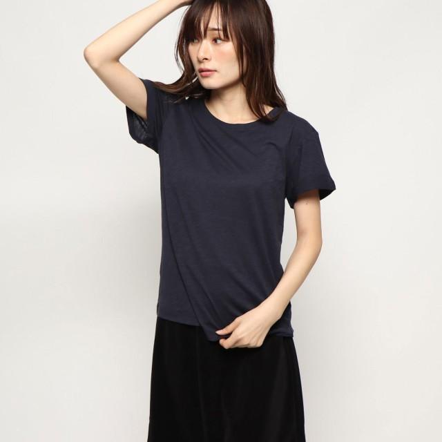 リネーム Rename 折り返し袖丸首Tシャツ (ネイビー)