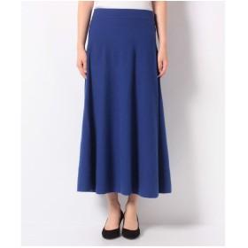 BENETTON (women) ウールミディニットスカート(ブルー)【返品不可商品】
