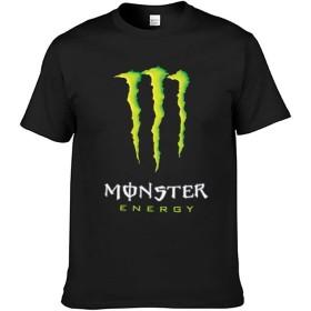 MONSTER ENERGY モンスターエナジー メンズ Tシャツ メンズ 半袖 無地 クルーネック ティシャツ シンプル 春 夏 秋