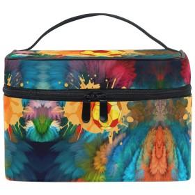 サッカー化粧品袋オーガナイザージッパー化粧バッグポーチトイレタリーケースガールレディース