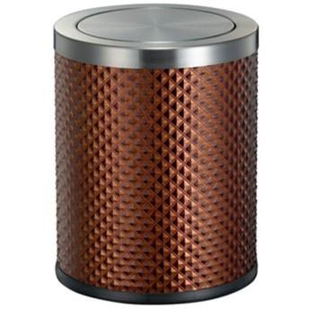 RBZCCP ステンレススチール製のゴミ箱寝室のゴミ箱ふた付きゴミ箱家庭用ラウンドクリエイティブレザーシェイクカバーゴミ箱-サイズ-255  320mm (Color : D)