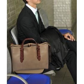 アレンヌ [HALEINE] 日本製 本革牛革レザー ビジネスバッグ メンズ レディース ユニセックス モカ FREE 【HALEINE】