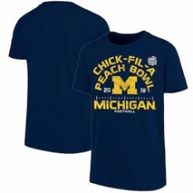Blue 84 ブルー エイティーフォー スポーツ用品  Blue 84 Michigan Wolverines Youth Navy 2018 Peach Bowl Bound Hayneedle T-Shirt
