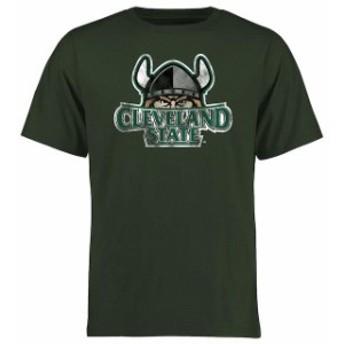 Fanatics Branded ファナティクス ブランド スポーツ用品  Cleveland State Vikings Green Big & Tall Classic Primary T-Shirt