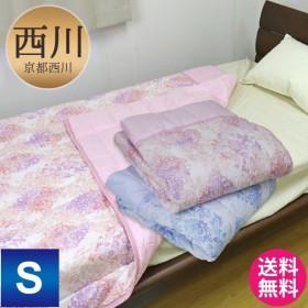 京都西川 キルトケット (4G1806-RG) S シングルサイズ 140×190cm 表地 リップル 裏地 吸水速乾二重ガーゼ (ポリエステル混)  選べる2色
