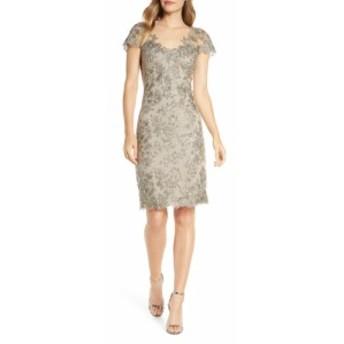 タダシショージ TADASHI SHOJI レディース ワンピース ワンピース・ドレス Corded Lace Sheath Dress Smoke Pearl