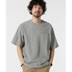 (nano・universe/ナノ・ユニバース)二重編みジャガードBIG Tシャツ/メンズ グレー
