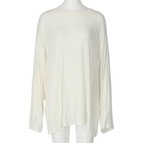 Alluge BIGルーズロングTシャツ(ホワイト)