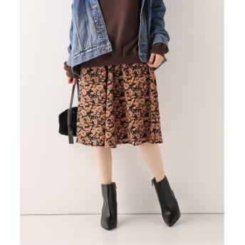 【50%OFF】 スピック&スパン プリントギャザースカート レディース ブラウン フリー 【Spick & Span】 【セール開催中】