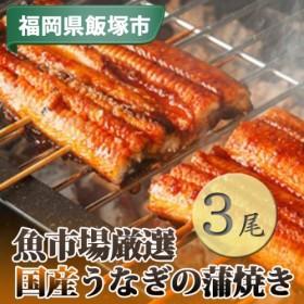 【A8-002】魚市場厳選 国産うなぎの蒲焼き 3尾