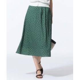 【J.PRESS LADIES:スカート】【セットアップ対応】ランダムドットプリント スカート