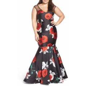 マックドゥガル MAC DUGGAL レディース パーティードレス ワンピース・ドレス Rose Print Mermaid Gown The Rose