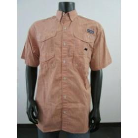 columbia コロンビア ファッション アウター Mens Columbia PFG Super Bonehead Classic Short Sleeve Fishing Shirt Orange Plaid