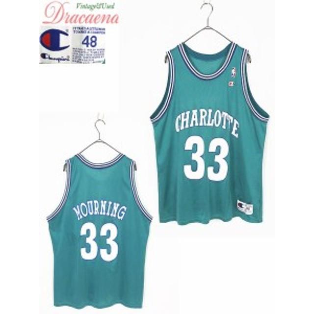 レディースタンクトップ古着 Champion チャンピオン NBA シャーロット・ホーネッツ アロンゾ・モーニング バスケ メッシュタンク グリー