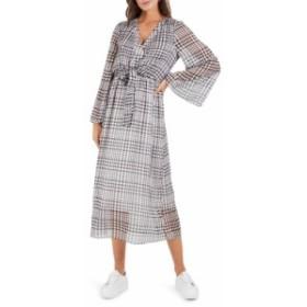 クーパーエスティ COOPER ST レディース ワンピース ミドル丈 ワンピース・ドレス Wild Heart Plaid Long Sleeve Midi Dress Print Dark