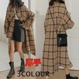 クーポン適用超人気 韓国ファッション上品超暖かい チェック柄シャツポカポカ暖かい 防寒 素材で柔らかい 温もり感じ 秋冬シャツ長袖 厚手