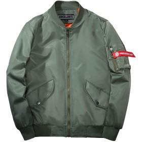 BOJIN ジャケット メンズ スタジャン 春 秋 薄手 ストリート フライトジャケット 大きいサイズ バイク アウター グリーン M