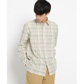 DRESSTERIOR(Men)(ドレステリア(メンズ)) 【洗える】コットンリネンマドラスチェックシャツ