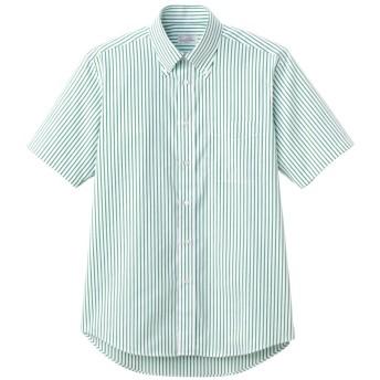 BONMAX ユニセックス ボタンダウンシャツ(半袖) FB4509U-4 グリーン 4L