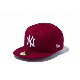 NEW ERA ニューエラ 59FIFTY MLB ニューヨーク・ヤンキース カーディナル × ホワイト ベースボールキャップ キャップ 帽子 メンズ レディース 7 (55.8cm) 11308546 NEWERA
