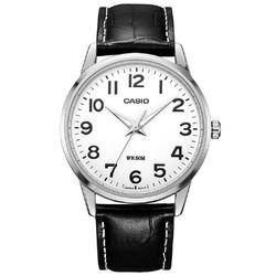 CASIO 簡約薄型紳士皮帶指針錶 MTP-1303L-7B
