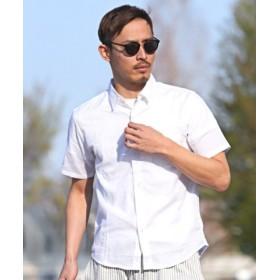 (LUXSTYLE/ラグスタイル)麻綿半袖シャツ/シャツ メンズ 半袖 半袖シャツ 綿麻 リネン/メンズ ホワイト