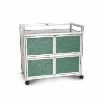 Cabini小飛象-花崗綠得意3.0尺鋁合金四門櫃88.5x50.8x83.6cm