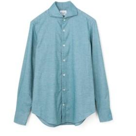 GIANNETTO / コットンフランネルホリゾンタルカラーカジュアルシャツ ブルー/MEDIUM(エストネーション)◆メンズ シャツ/ブラウス