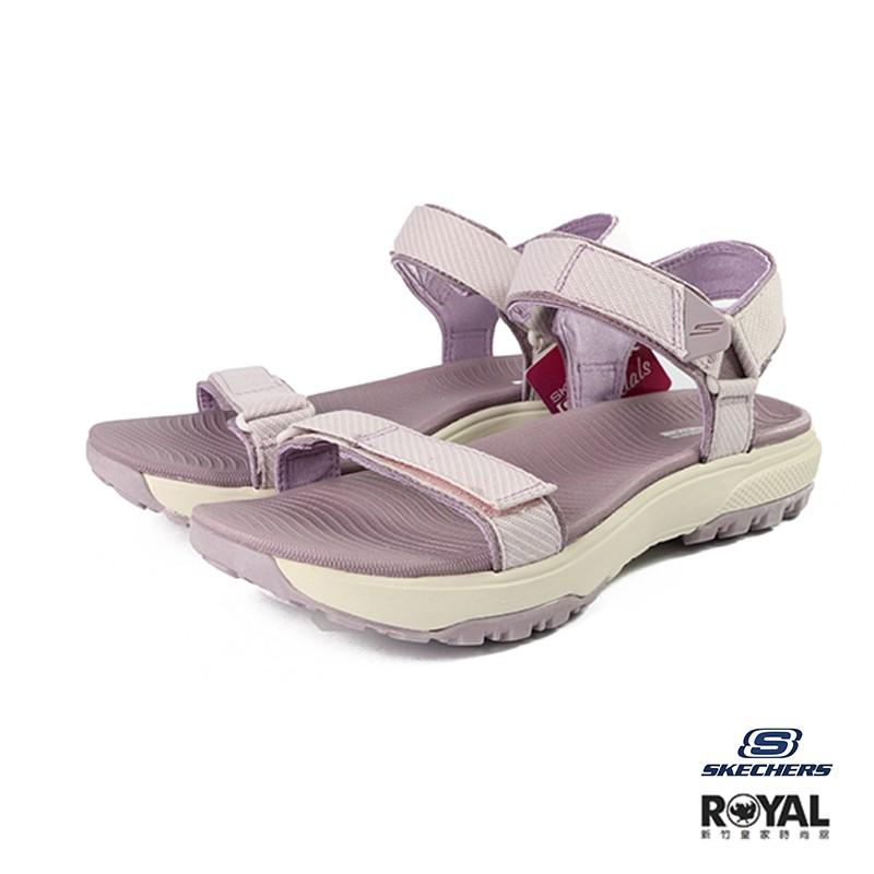 Skechers Outdoor 藕紫色 魔鬼氈 軟底 運動涼鞋 女款 NO.I9737【新竹皇家 16210LTMV】