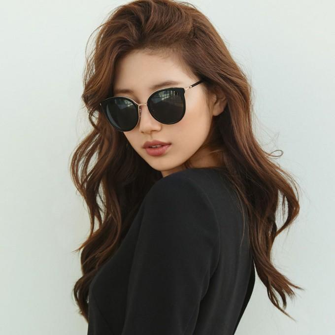 CARIN 太陽眼鏡 MADELEINE C1 秀智代言 經典貓眼款 - 金橘眼鏡