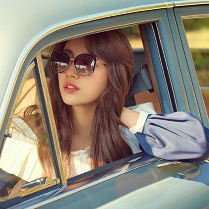 CARIN 太陽眼鏡 LINDA C1 秀智代言 韓系潮流方框款 - 金橘眼鏡