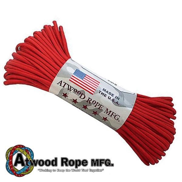 Atwood Rope 美國專業傘繩 -紅色傘繩 / 100呎 - S03-RED 【詮國】