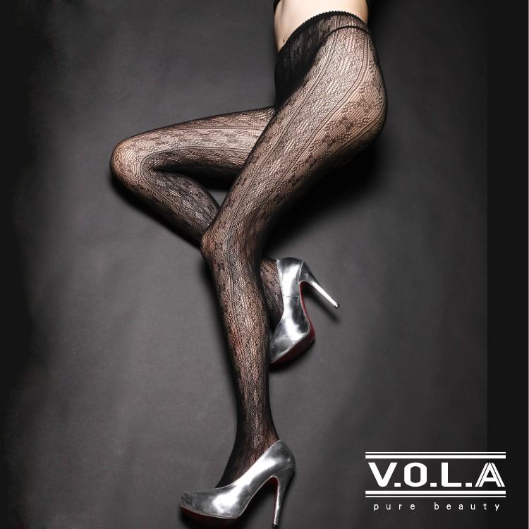 [VOLA]性感網襪 細緻菱格 歐美風情