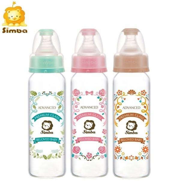 台灣 Simba 小獅王 蘿蔓晶鑽標準玻璃大奶瓶240ml【送蓋子】
