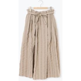 【6,000円(税込)以上のお買物で全国送料無料。】綿麻巻き風スカート