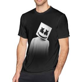 RIYIQB Marsh-mello Tシャツ メンズ トップス 3Dプリント個性的 ジョギングトレーニング カジュアル 半袖 若者 部屋着 丸えり 春夏秋 吸汗速乾