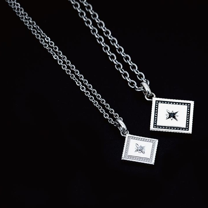 【JK銀飾】永恆閃耀的愛(贈刻字)/925純銀【項鍊、情侶銀飾】