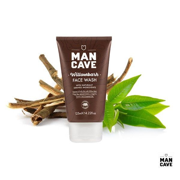 GOODFORIT / 英國男仕理容Man Cave Willow Bark Facewash雪松綠茶深層洗顏乳