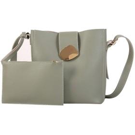 財布のポケットソリッドショルダーバッグ財布クロスボディトートバッグ-のトップ、グリーンで2PC女性のためのバッグラグジュアリーレディーハンドバッグ